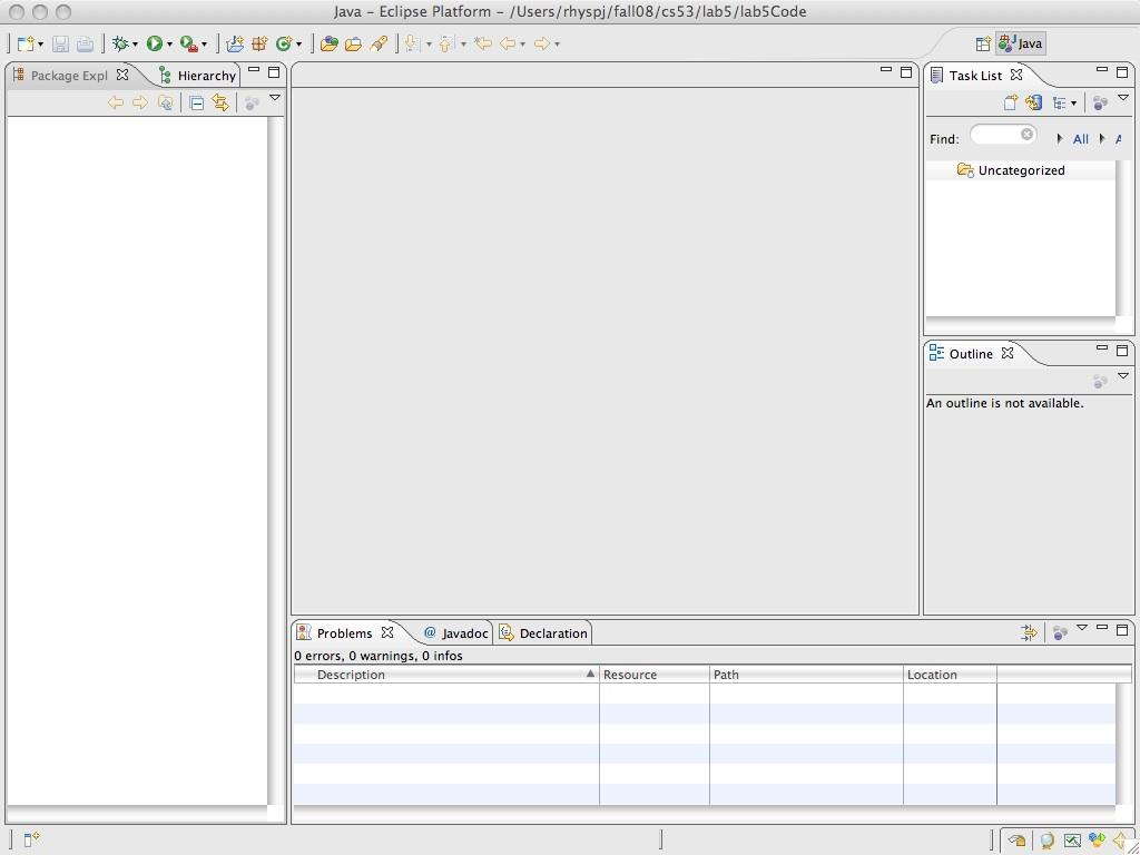 your second java program event handling